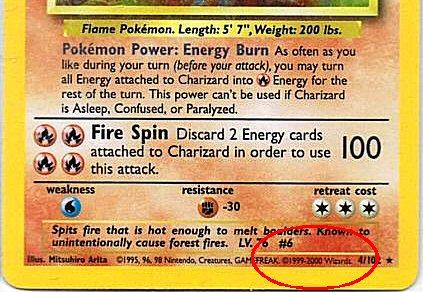 Pokemon base set guide.